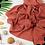 Thumbnail: Châle en crêpe premium - Terracota