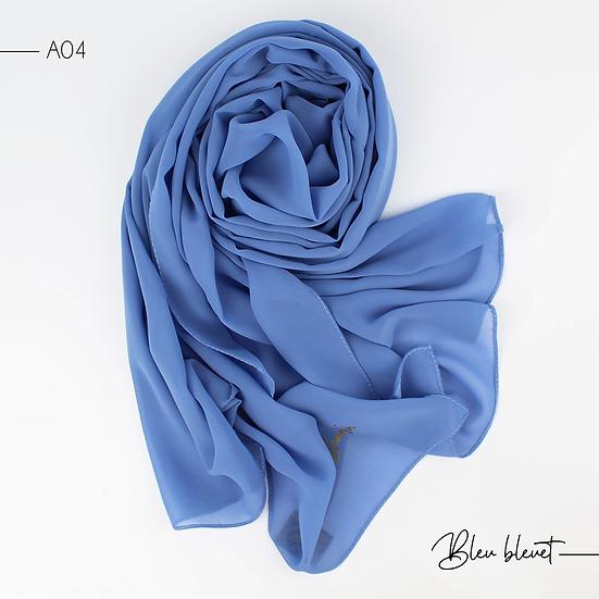 Chiffon Premium - Bleu bleuet