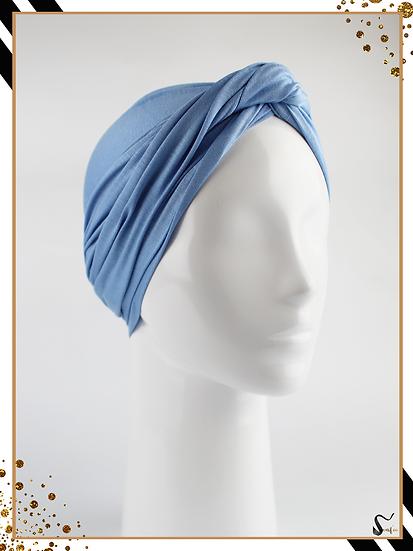 Turban - Bleu azur