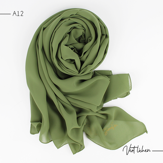 Chiffon Premium - Vert lichen
