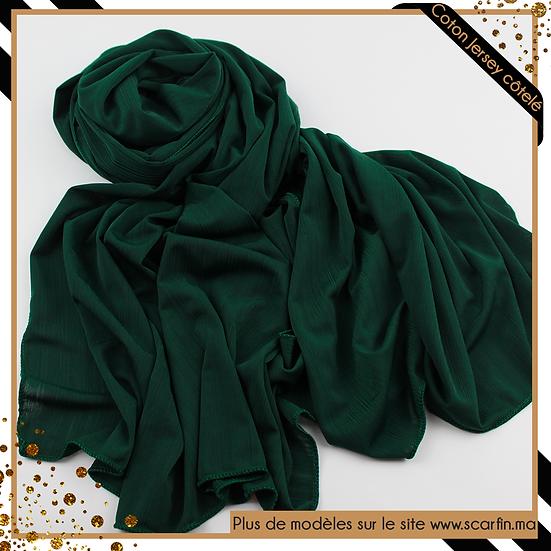 Châle en jersey côtelé - Vert royal