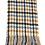 Thumbnail: Echarpe pieds de poule multicolore - bleu et camel