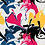 "Thumbnail: Châle ""Sofine"" - Fushia, jaune, noir et bleu"