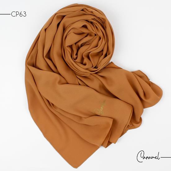 Châle en Crepe Premium - Caramel