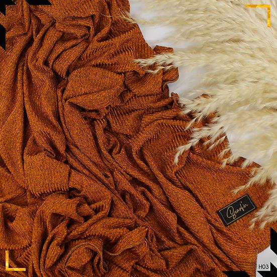 Châle en jersey chiné - Abricot