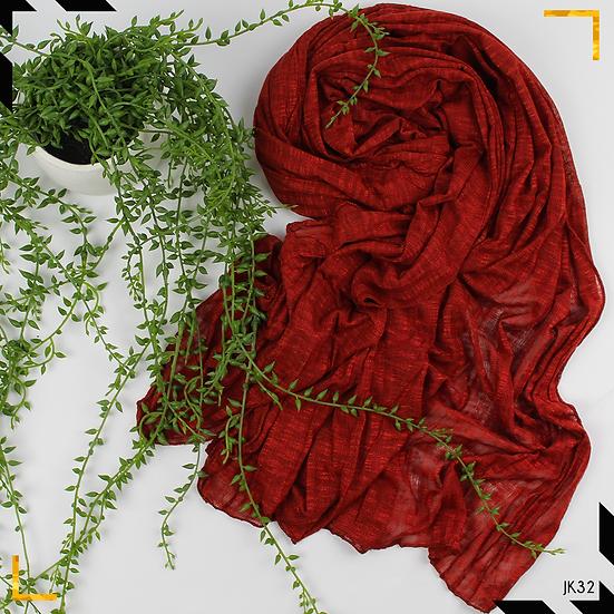 Châle en jersey koweïtien - Rouille
