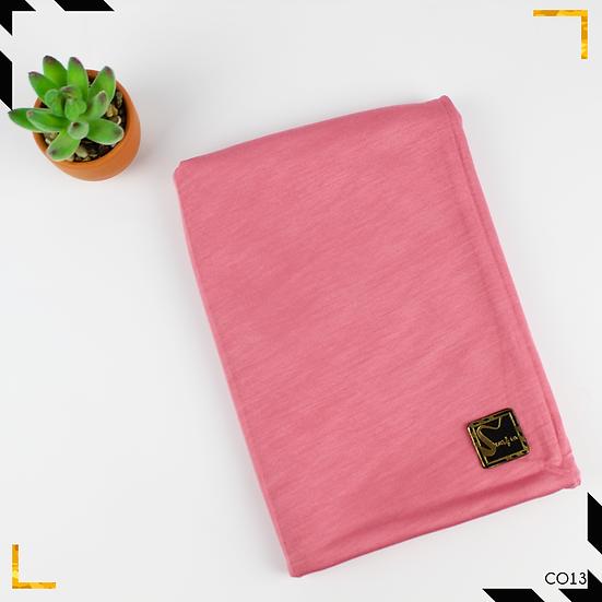 Châle en coton jersey - Rose grenadine