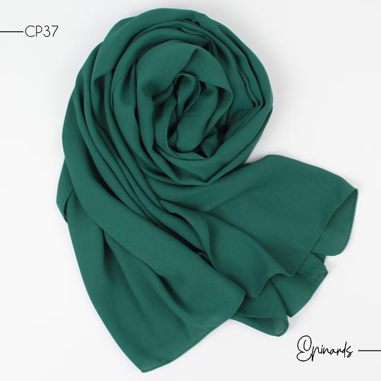 Châle en Crepe Premium - Vert epinards
