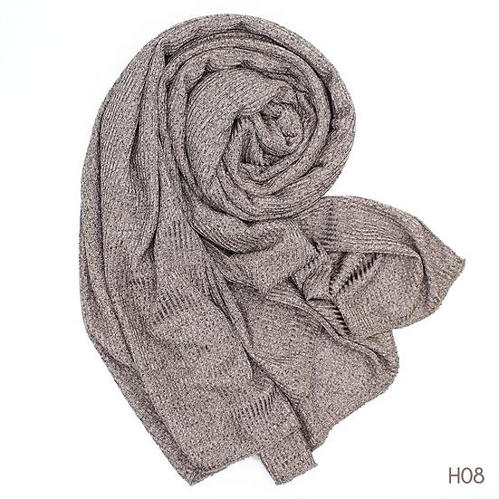 Châle en jersey chiné - Taupe grisé