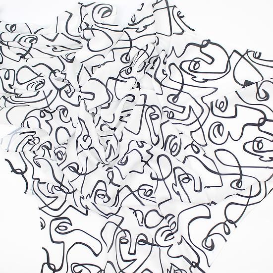 """Châle """"Faces"""" - Version 1"""