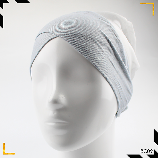Bonnet underscarf croisé - Gris clair