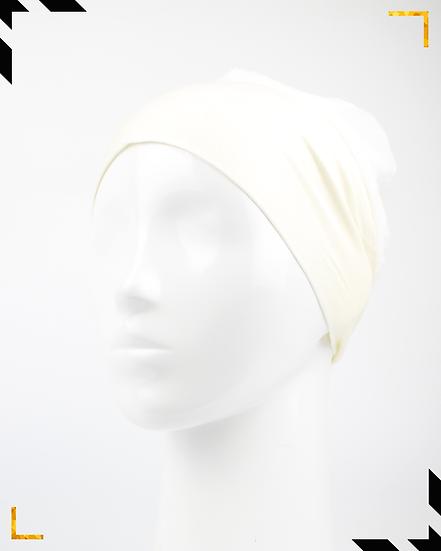 Bonnet underscarf simple - Blanc cassé