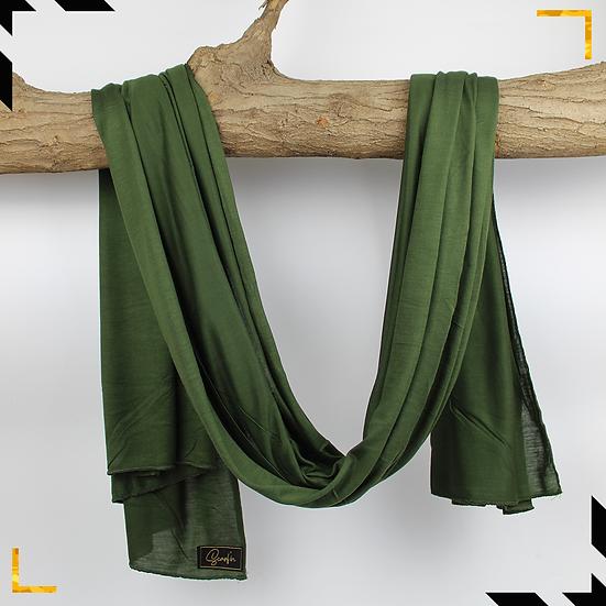 Châle en coton jersey - Vert militaire