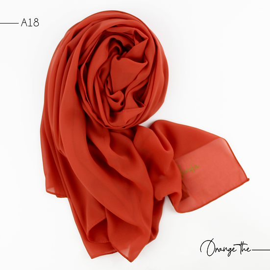 Chiffon Premium - Orange thé