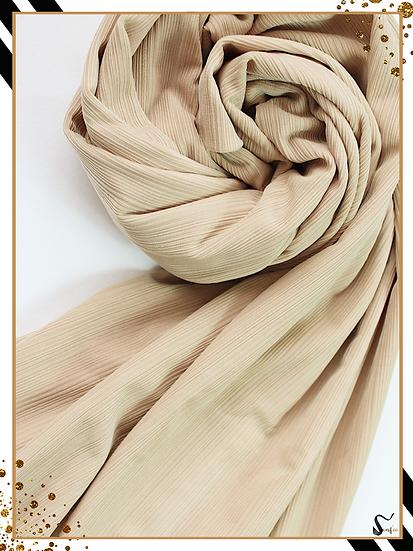 Châle en jersey côtelé - Beige sable