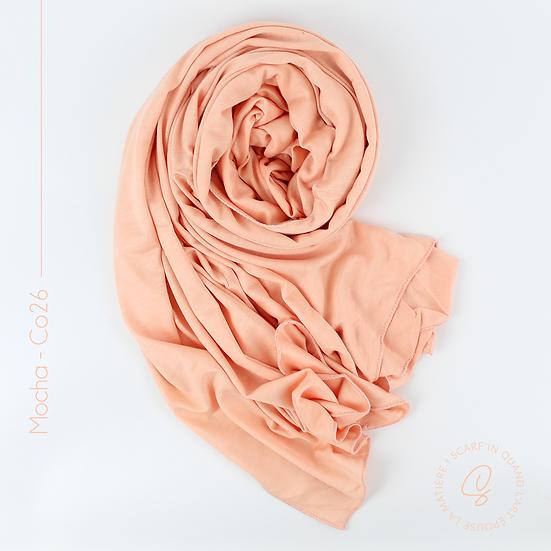 Châle en coton jersey - Peach
