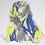 """Thumbnail: Châle """"Mounty"""" - Jaune fluo, Bleu et gris"""