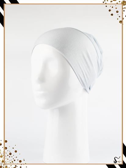 Bonnet underscarf simple - Gris clair