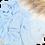 Thumbnail: Châle en crêpe premium - Bleu ciel