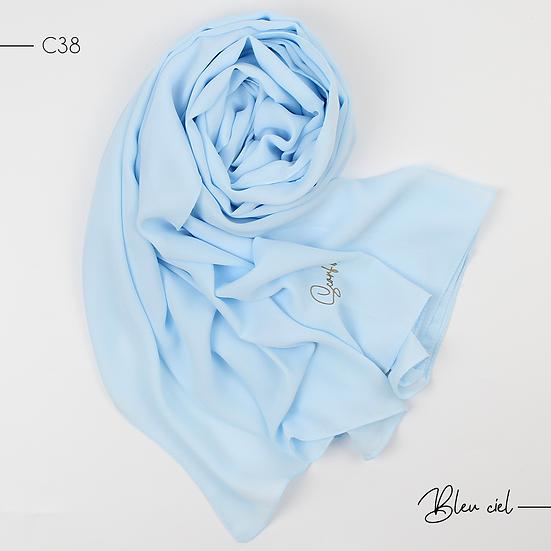 Châle en crêpe premium - Bleu ciel