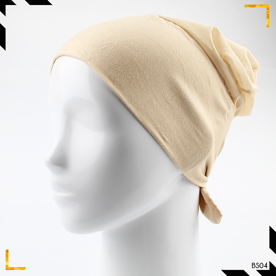 Bonnet underscarf simple - Beige
