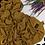 Thumbnail: Châle en jersey chiné - Moutarde