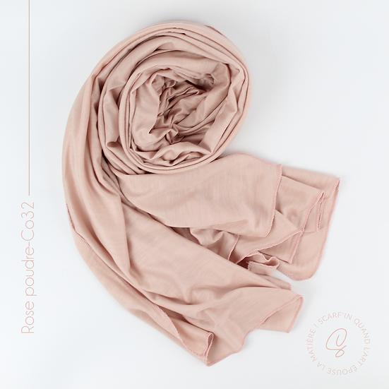 Châle en coton jersey - Rose poudré
