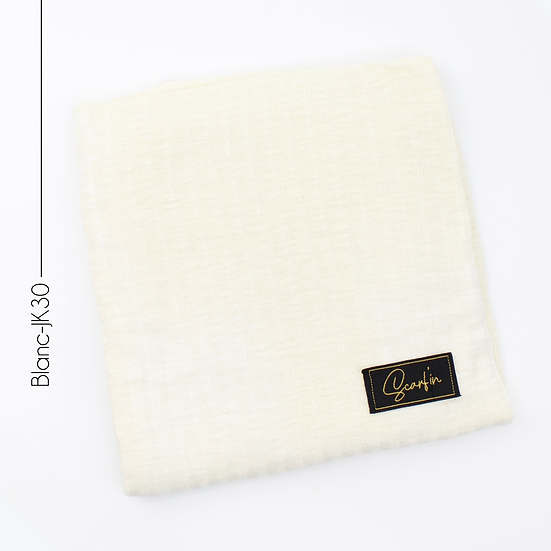 Châle en jersey koweïtien - Blanc