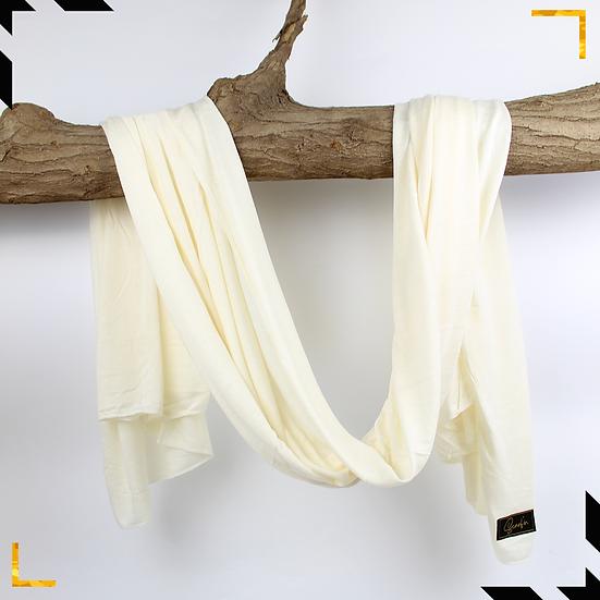 Châle en coton jersey - Blanc cassé