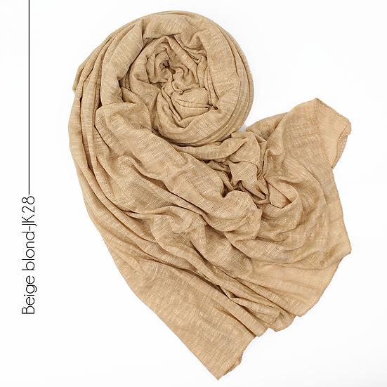 Châle en jersey koweïtien - Beige blond