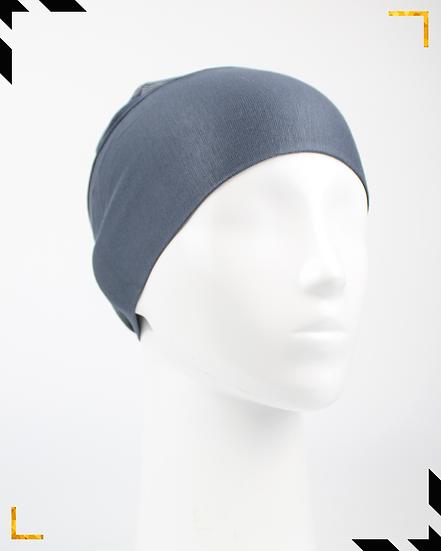 Bonnet underscarf simple - Gris bleuté
