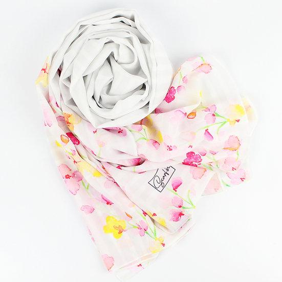 """Châle """"Flora - Gris clair"""