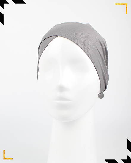 Bonnet underscarf croisé - Gris foncé