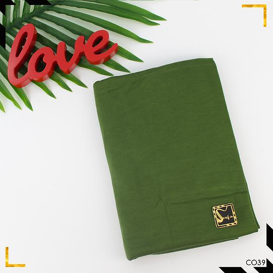 Châle en coton jersey -Vert Olive