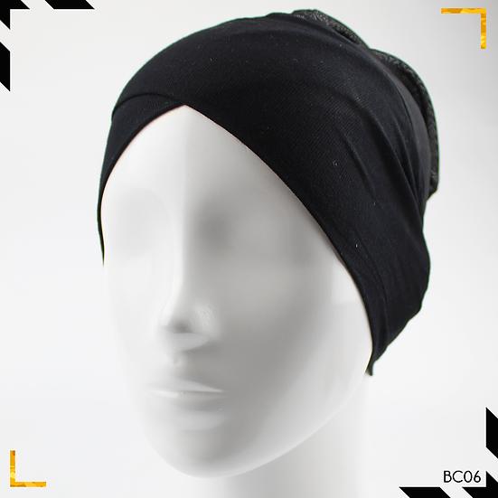 Bonnet underscarf croisé - Noir