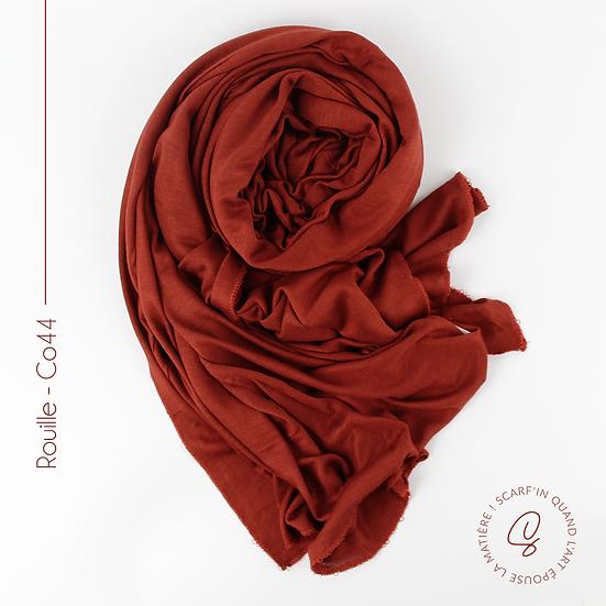 Châle en coton jersey - Rouille