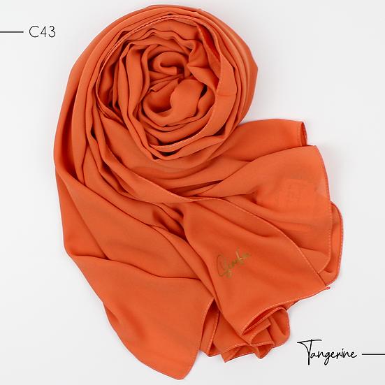 Châle en Crepe Premium - Tangerine