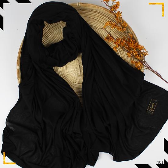 Châle en jersey style maille - Noir