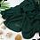 Thumbnail: Châle en crêpe premium - Vert royal