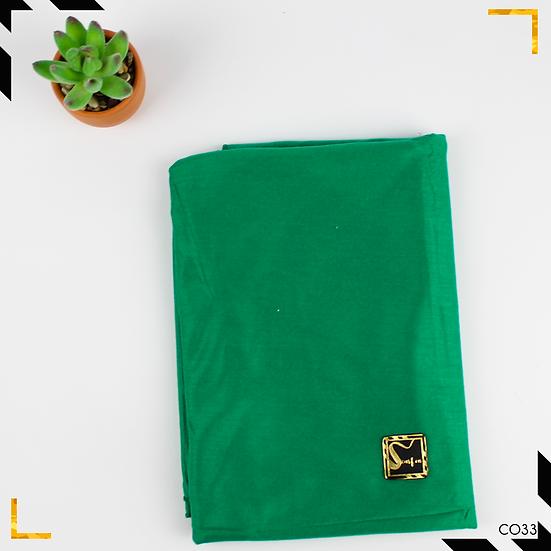 Châle en coton jersey - Vert émeraude