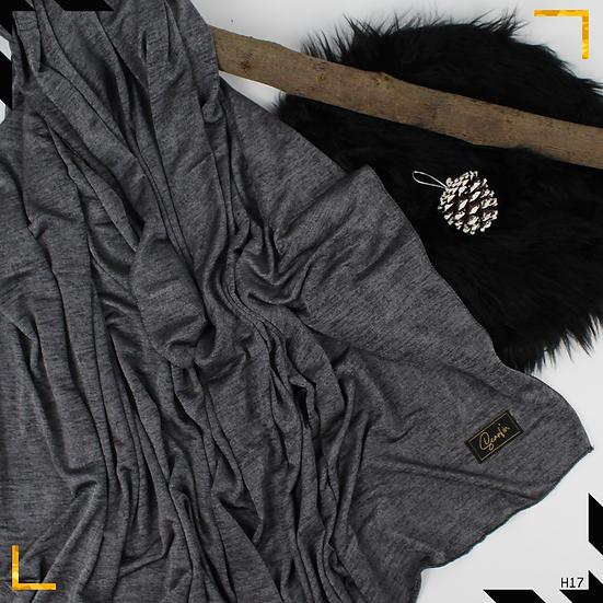 Châle en jersey chiné - Gris foncé