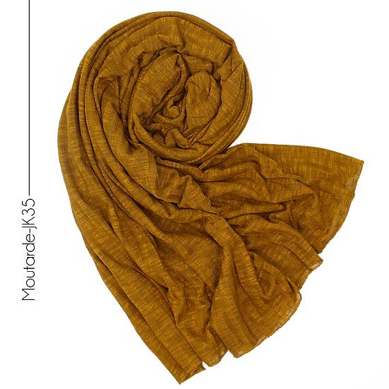 Châle en jersey koweïtien - Moutarde