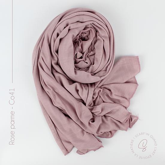 Châle en coton jersey - Rose parme