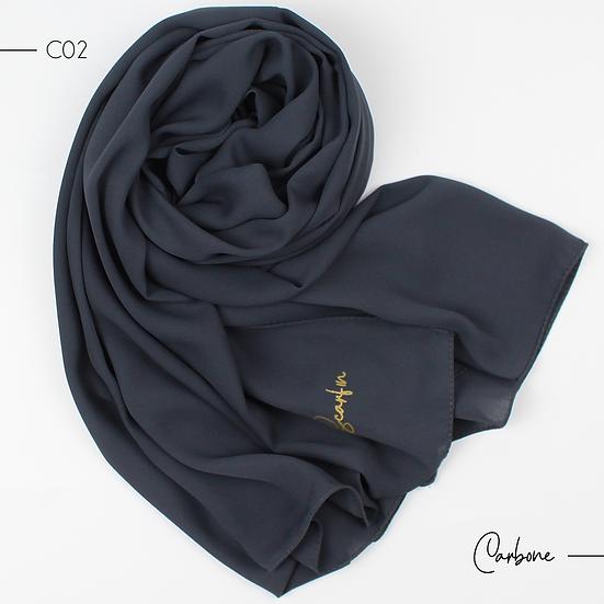 Châle en Crepe Premium - Carbone