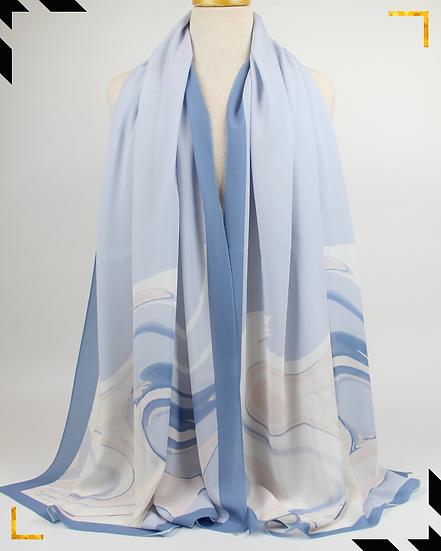 """Châle """"Edgine"""" - Bleu ciel"""