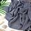 Thumbnail: Châle en Crepe Premium - Gris bleuté