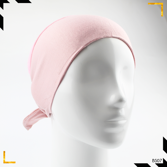 Bonnet underscarf simple - Rose