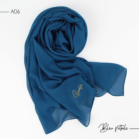 Chiffon Premium - Bleu pétrole