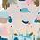 """Thumbnail: Châle """"Pastif"""" - Nude, bleu canard et vert d'eau"""