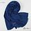 Thumbnail: Châle en Crepe Premium - Bleu Klein